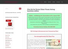 China Visumantrag