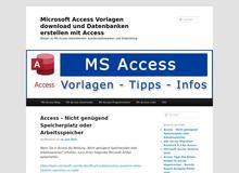 Access Vorlagen und Datenbanken