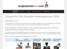 Burgerpresse Test – die besten Burgerpressen 2016