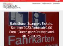 bahngebote.de Tipps + Top Angebote für Bahnfahrer