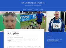 Ein Amateur beim Triathlon