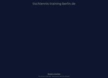 Tischtennis Training Berlin