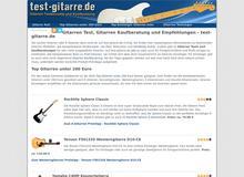 test-gitarre.de – billige Gitarren, Gitarren Testsieger und hochwertige Gitarren