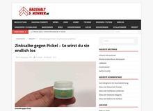 Zinksalbe gegen Pickel