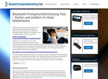 Bluetooth Freisprechanlage Test