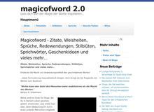 Magicofword.com – Zitate, Sprüche, Filmzitate, Geschenkideen und viel mehr…