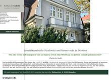 Kanzlei Klein in Dresden – Strafrecht und Steuerrecht