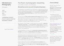 The Power of Photographic Storytelling