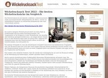 Wickelrucksack Test