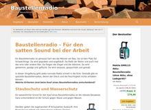 Baustellenradio – satter Sound am Bau