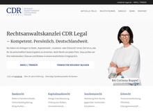 CDR Legal – Bankrecht und Kapitalmarktrecht