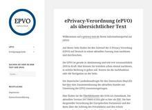 ePrivacy-Verordnung (ePVO) als übersichtlicher Text